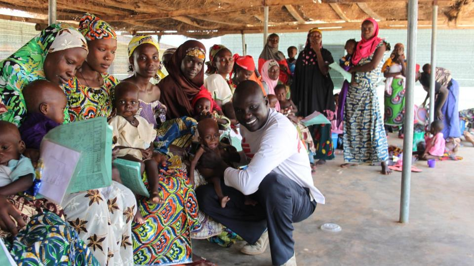 MSF-Nurse Thok Johnson working in a mother-child-project in Goronyo town, in the north of Nigeria.