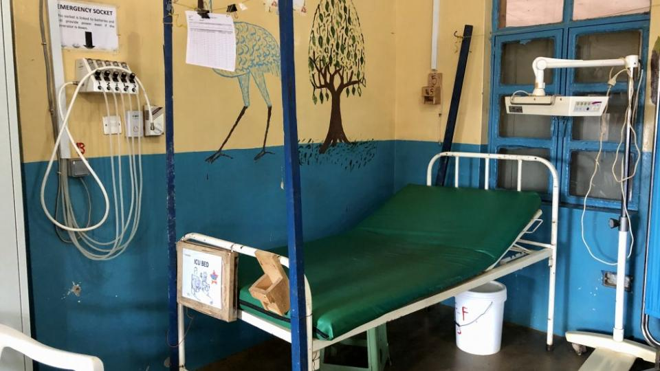 A bed in the paediatric intensive care unit in Aweil, South Sudan, awaits its next patient