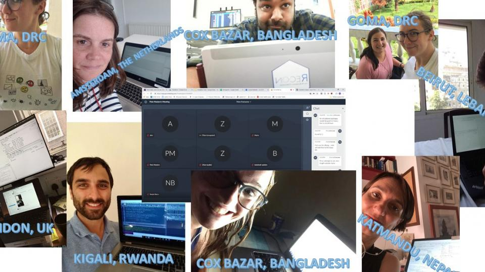 Screenshots of all the epidemiologists who took part in the R4Epis hackathon