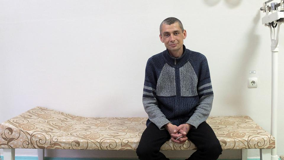Yurii is being treated by MSF for DR-TB at the TB hospital in Zhytomyr, Ukraine