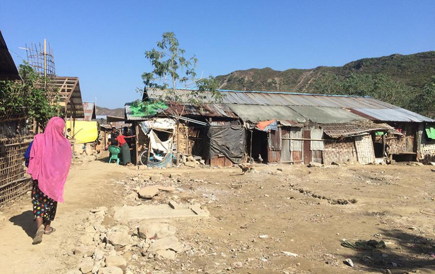 Conditions inside a Rohingya camp in Rakhine