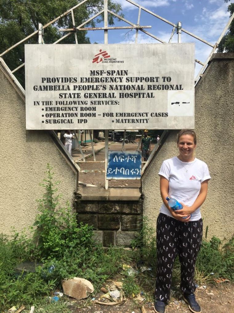 Harriet Zych at the MSF hospital in Gambela